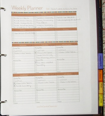 My Weekly Planner Page