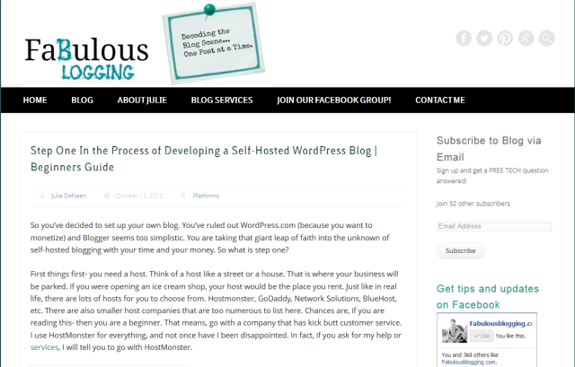 The Fabulous Blogging Website