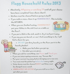 Flagg Household Rules
