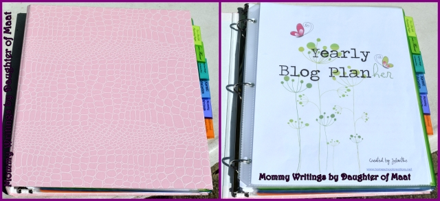 My blog planner. I had to make the front page of my planner pretty... if it's not aesthetically pleasing, I won't use it!