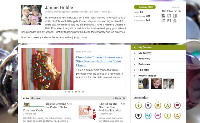 Janine's HP Profile